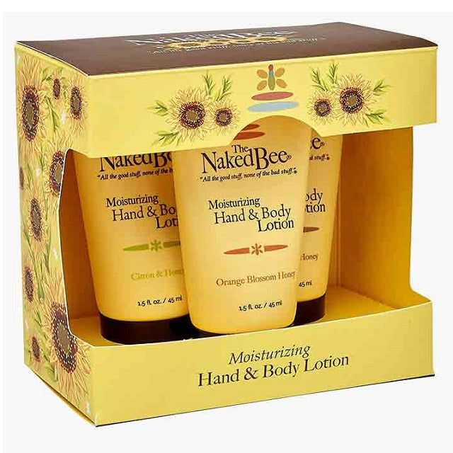 Naked Bee Hand and Body Lotion Trio Gift Set