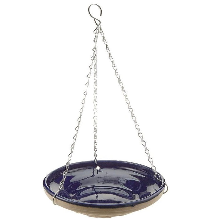 Gardman Glazed Ceramic Hanging Bird Bath/Feeder