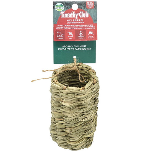 Timothy Club Hay Barrel Small Animal Toy