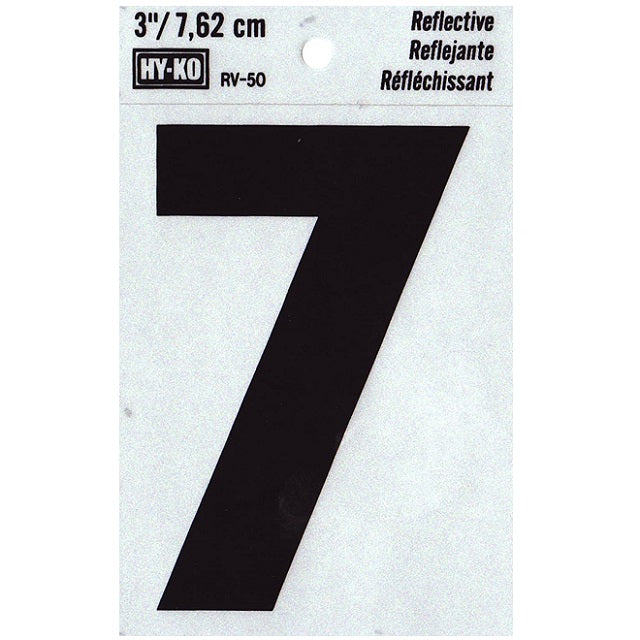 3 in. Vinyl Reflective Number 7