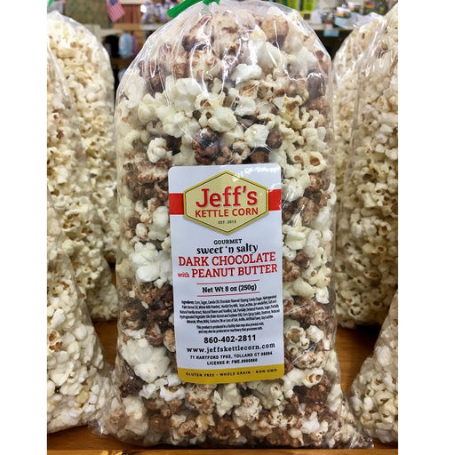 Jeff's Kettle Corn 8-oz., Dark Chocolate with Peanut Butter