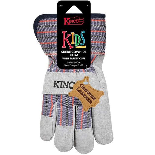 Kids Split Leather Palm Chore Gloves