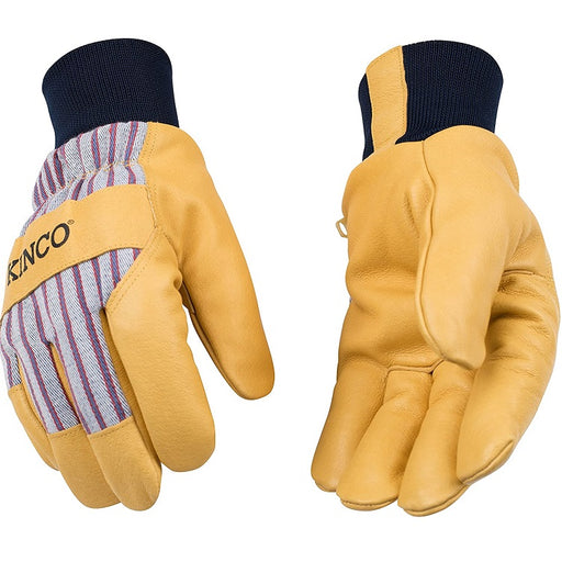 Pigskin Palm Lined Work Gloves with Knit Wrist- Kinco