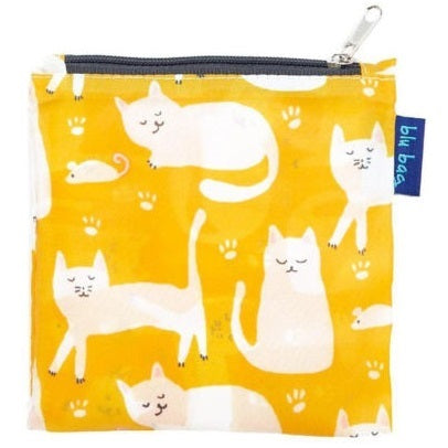 Kitty Cats Yellow Blu Bag Reusable Shopping Bag
