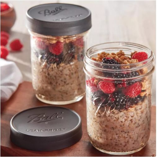 Leak Proof Plastic Storage Lids for Regular Mouth Mason Jars