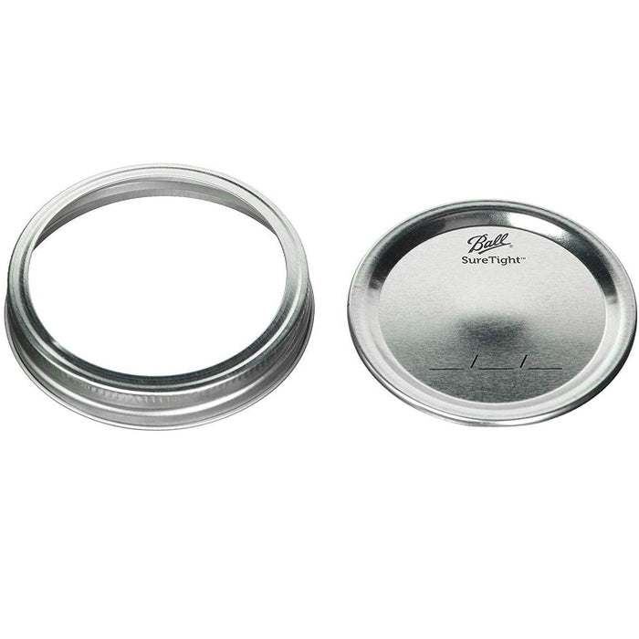 Lids & Bands for Regular Mouth Mason Jars, 12 pack