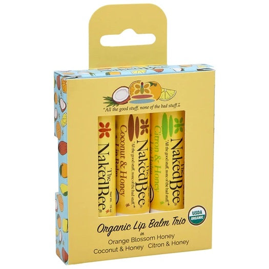 Naked Bee 3 Pack Lip Balm Gift Set