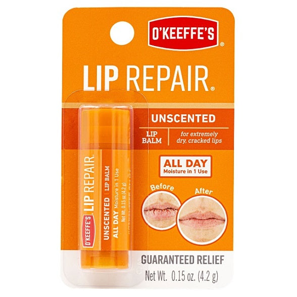 O'Keeffe's Lip Repair Lip Balm, Unscented