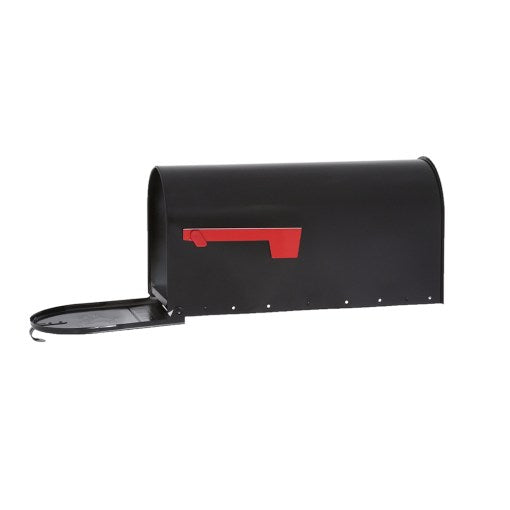 Elite Steel Post Mount Mailbox, Large Black