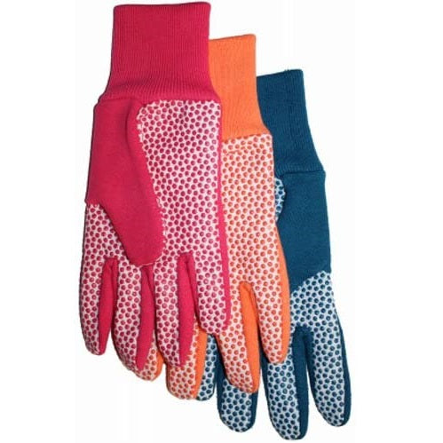 Dotted Palm Ladies Canvas & Jersey Work Gloves