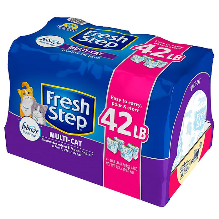 Fresh Step with Febreze Multi-Cat Clumping Litter