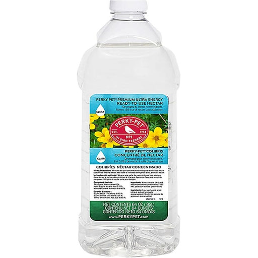 Hummingbird Nectar, Ready-to-Use 64 oz., Clear - Perky Pet