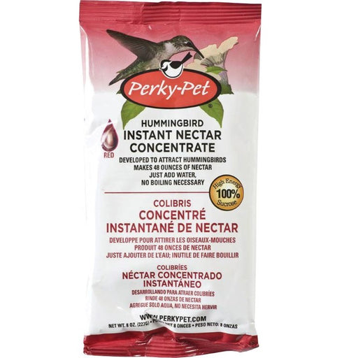 Hummingbird Instant Nectar Concentrate 8 oz., Red - Perky Pet