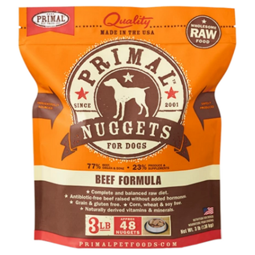 Primal Raw Frozen Nuggets Beef Formula Dog Food