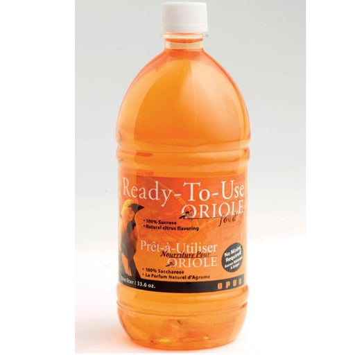 Oriole Nectar, Ready-to-Use 32 oz., Orange - Perky Pet