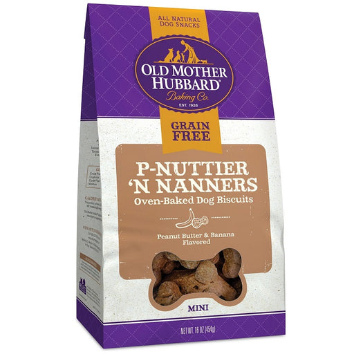 Old Mother Hubbard Crunchy Grain Free Mini P-Nuttier 'N Nanners Biscuits Dog Treats