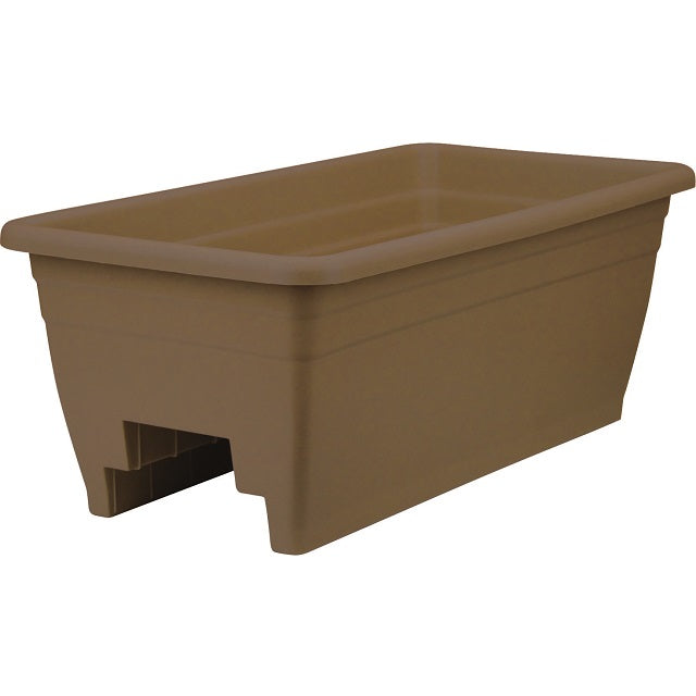 24 in. Deck Rail Planter, Chocolate