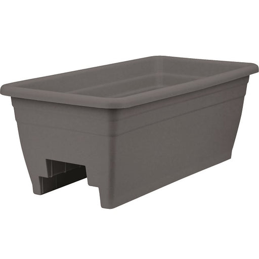 24 in. Deck Rail Planter, Gray