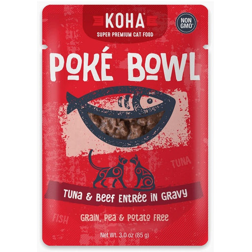 KOHA Grain & Potato Free Poké Bowl Tuna & Beef Entrée in Gravy for Cats
