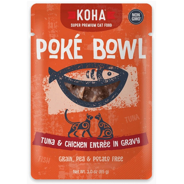 KOHA Grain & Potato Free Poké Bowl Tuna & Chicken Entrée in Gravy for Cats
