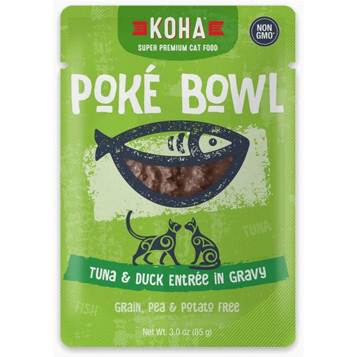 KOHA Grain & Potato Free Poké Bowl Tuna & Duck Entrée in Gravy for Cats