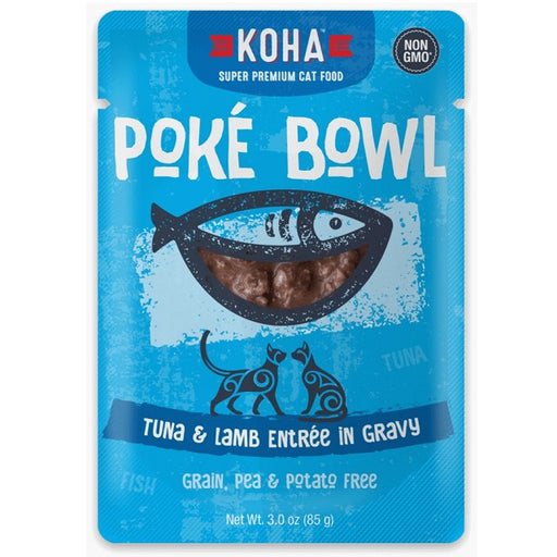 KOHA Grain & Potato Free Poké Bowl Tuna & Lamb Entrée in Gravy for Cats