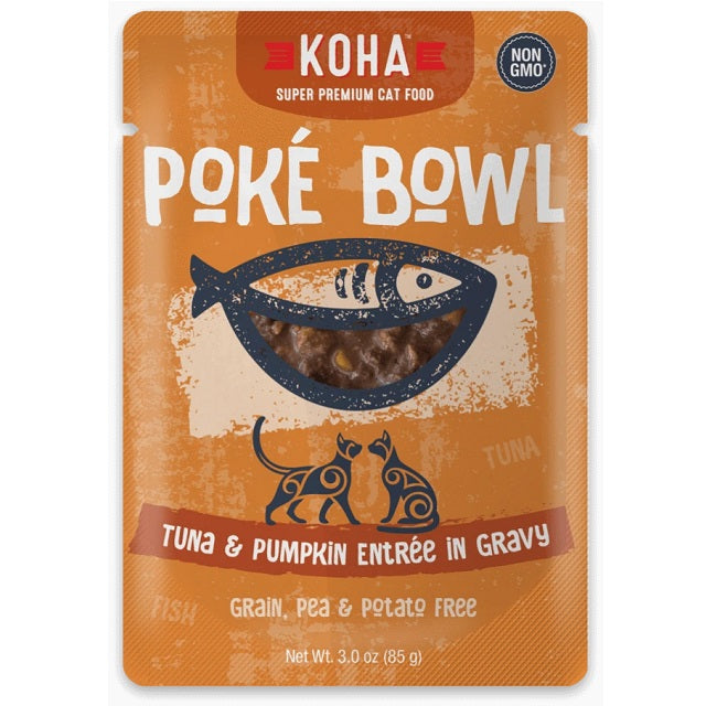 KOHA Grain & Potato Free Poké Bowl Tuna & Pumpkin Entrée in Gravy for Cats