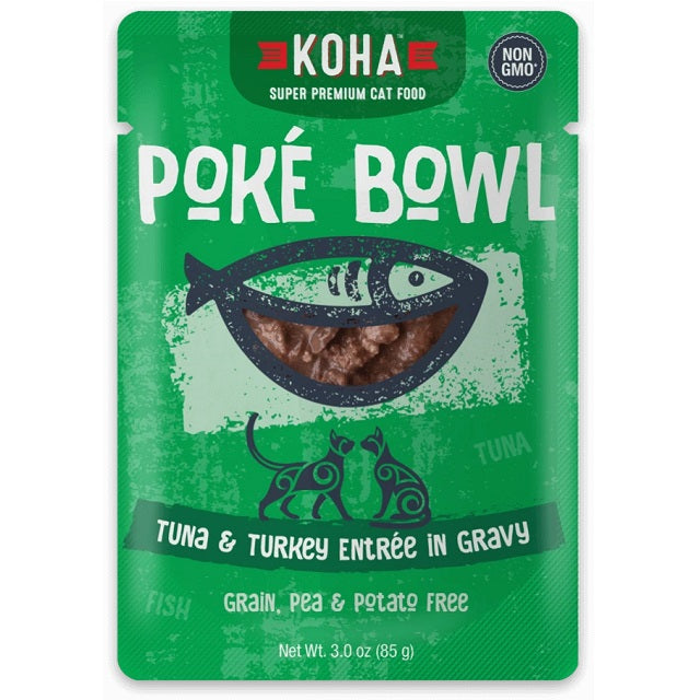 KOHA Grain & Potato Free Poké Bowl Tuna & Turkey Entrée in Gravy for Cats