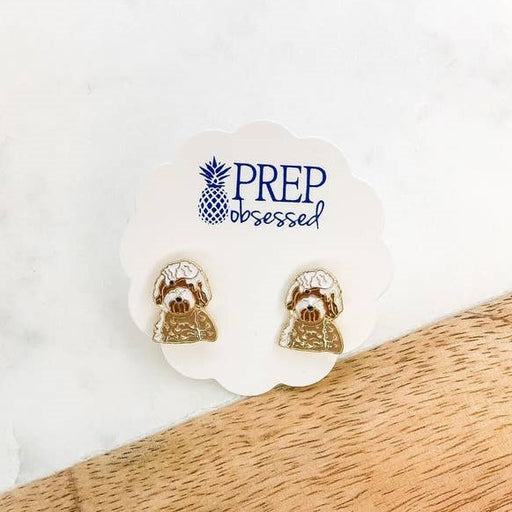 Prep Obsessed Enamel Stud Earrings, Golden Doodles
