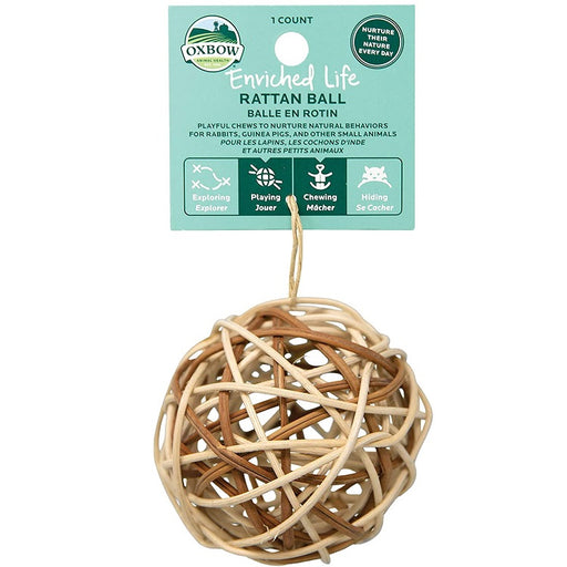 Rattan Ball Small Animal Toy - Enriched Life