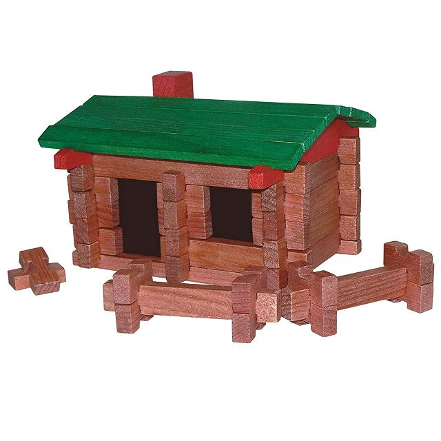 Original Roy Toy Miniature Log Cabin Set No. 9 The Camp