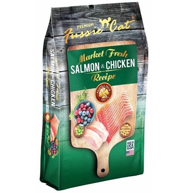 Fussie Cat Market Fresh Grain Free Salmon & Chicken Recipe Dry Cat Food 4-Lb.