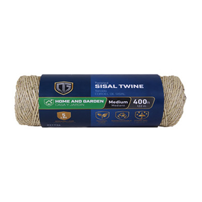 Sisal Twine, Twisted, 1-Ply x 400-Ft.