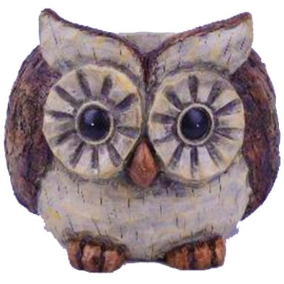 Faux Wood Animal Planter, Owl
