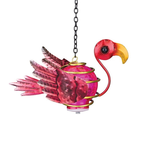 Regal Art Bird Solar Lantern, Flamingo