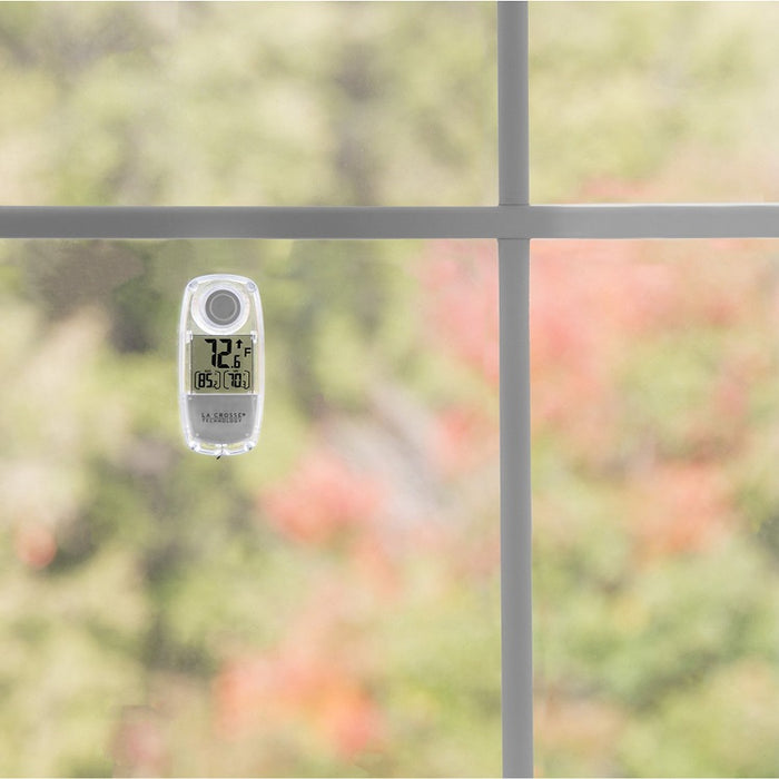 Solar-Powered Digital Window Thermometer