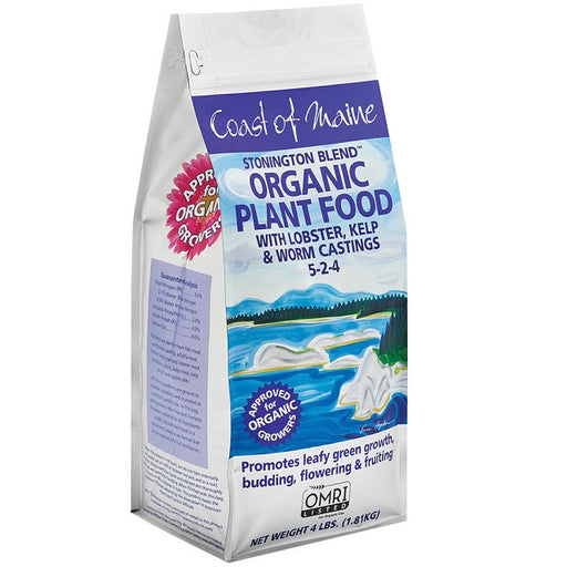 Coast of Maine Stonington Blend Organic Plant Food, 4 Lbs.