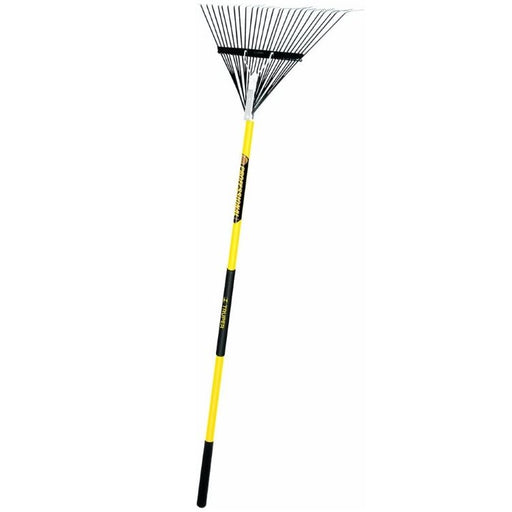 "Leaf Rake, 26"" Steel Tine with Fiberglass Handle"