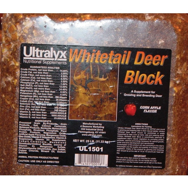 Ultralyx Pressed Whitetail Deer Block 25-lb