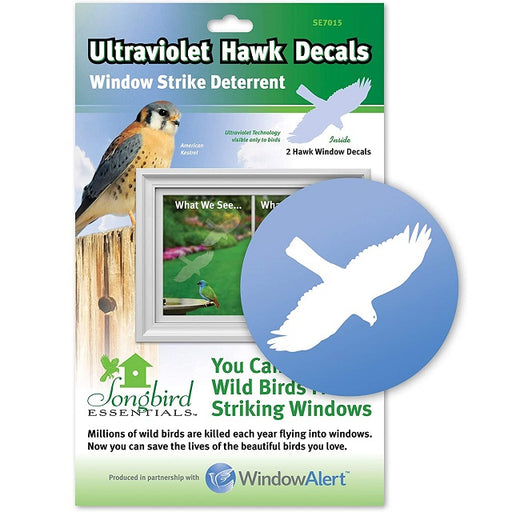 Hawk Decal Window Strike Deterrent 2-Pack