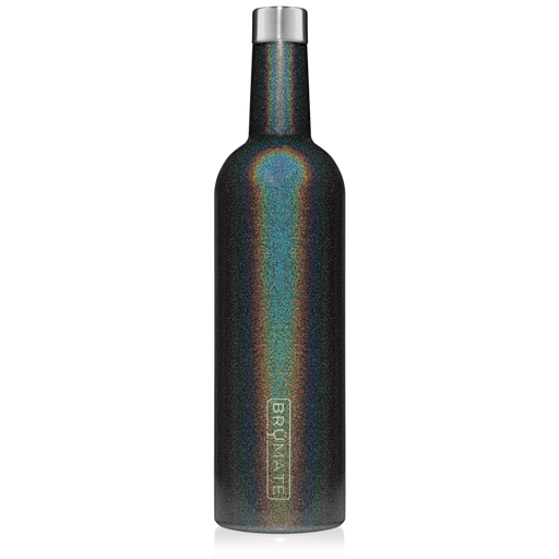 BrüMate Winesulator 25oz Wine Canteen, Glitter Charcoal