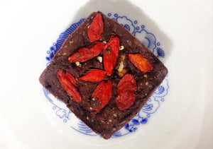 Raw Cordyceps Walnut Brownies