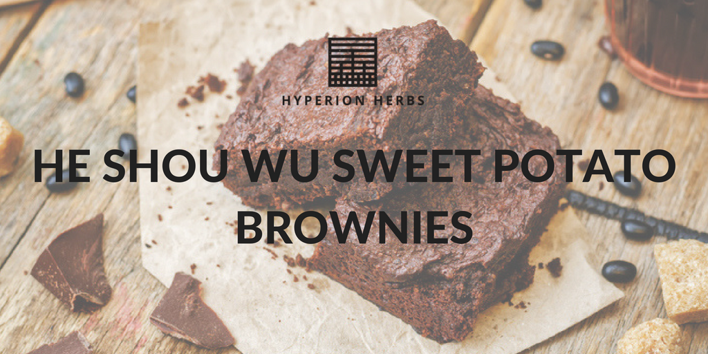 He Shou Wu Sweet Potato Brownies