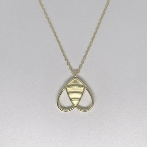 Solid Bee Necklace In Gold