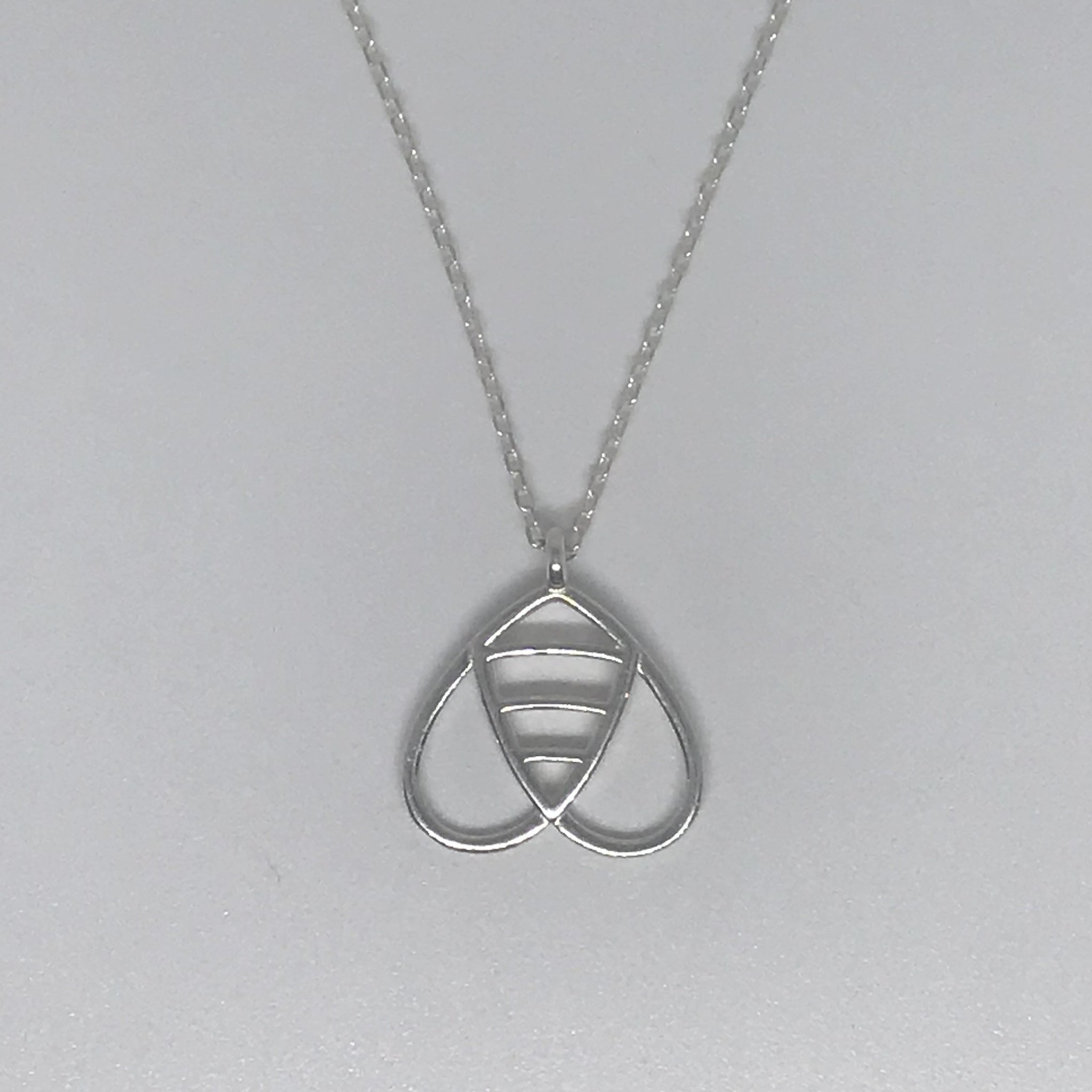 Dainty Bee Necklace In Sterling Silver