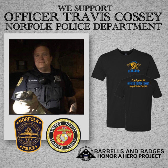 OFFICER TRAVIS COSSEY SUPPORT SHIRT