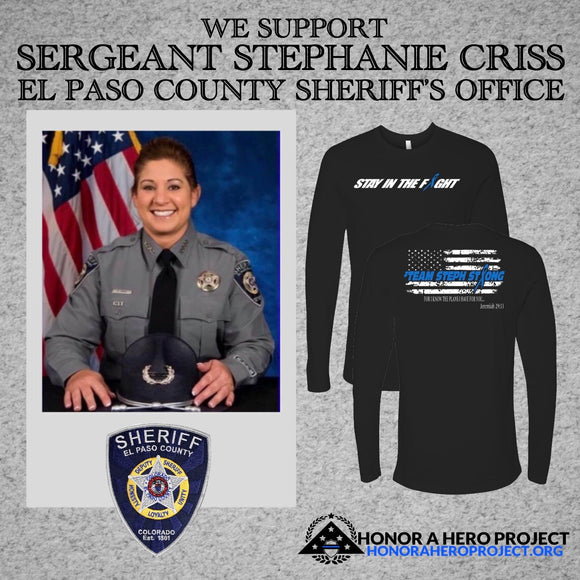 SERGEANT STEPHANIE CRISS SUPPORT SHIRT