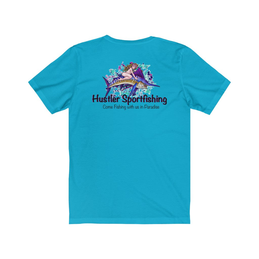 Unisex Tee Marlin Rider Blue Splash