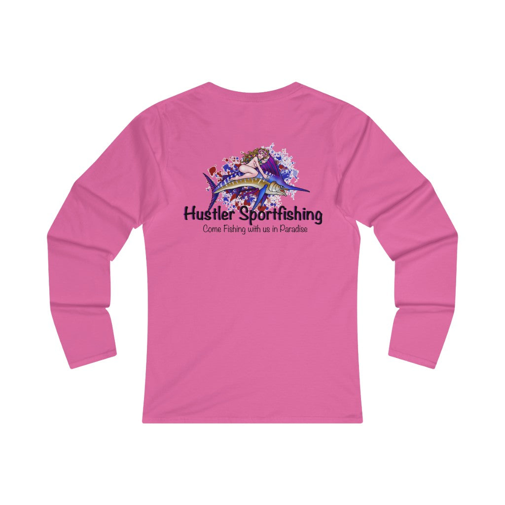 WLS Cotton Marlin Rider Pink & Blue Splash