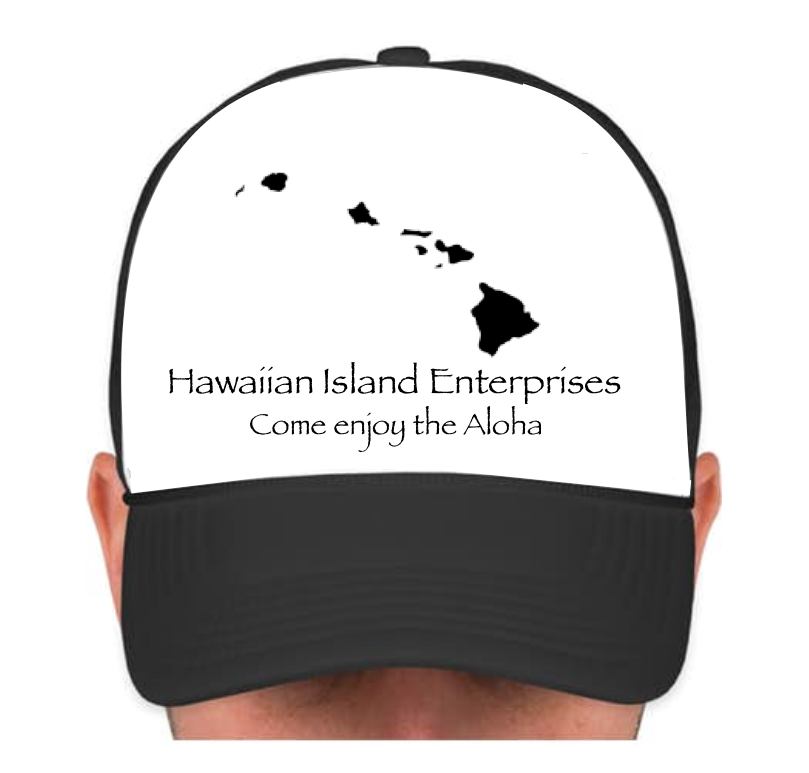 HIE Cap with Black Islands and Aloha